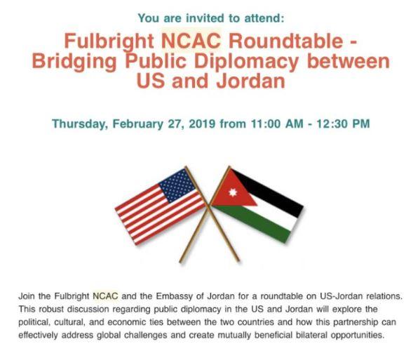 Embassy of Jordan Roundtable Event